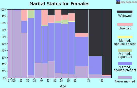 Zip code 17921 marital status for females