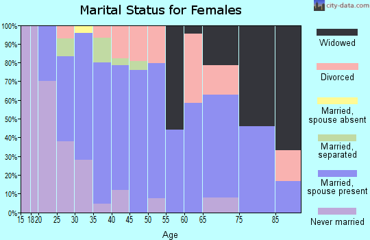 Zip code 17929 marital status for females