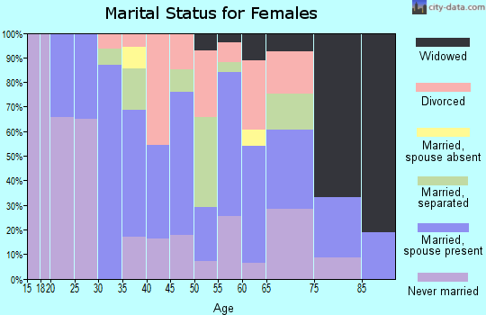 Zip code 17935 marital status for females