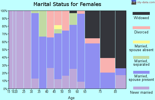 Zip code 17959 marital status for females