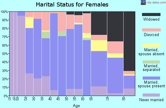 Zip code 17961 marital status for females