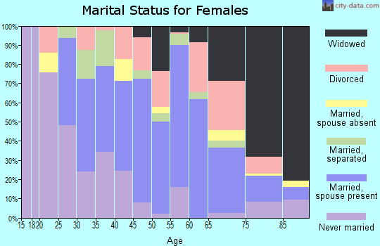 Zip code 17976 marital status for females
