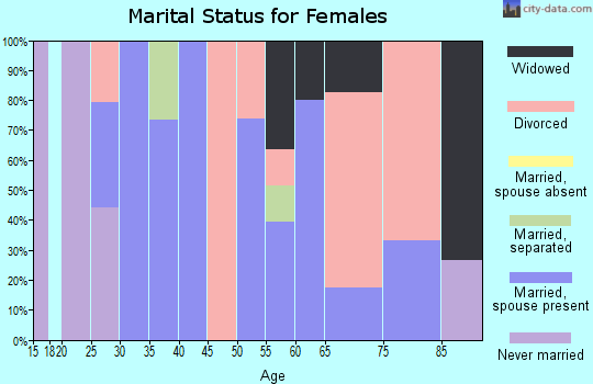 Zip code 18231 marital status for females
