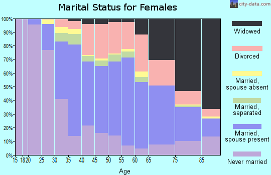 Zip code 18704 marital status for females
