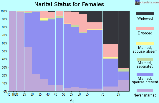 Zip code 18940 marital status for females