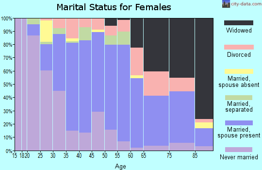 Zip code 19056 marital status for females
