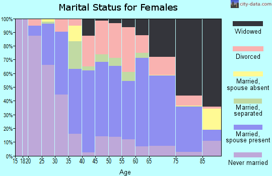 Zip code 19078 marital status for females