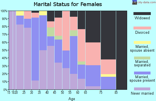 Zip code 19079 marital status for females