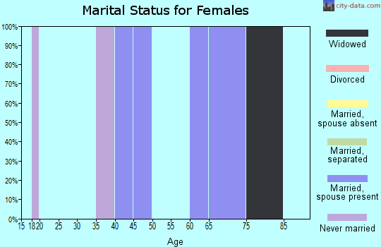 Zip code 19113 marital status for females