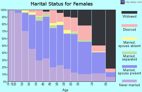 Zip code 19128 marital status for females