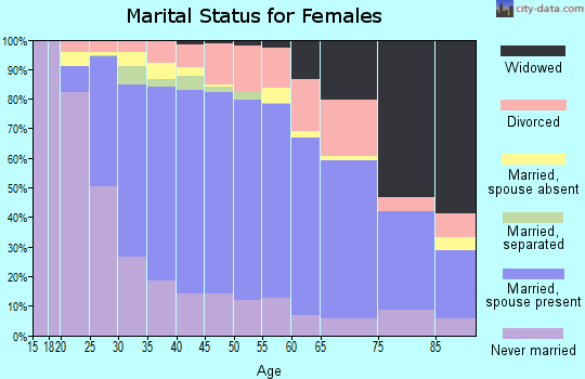 Zip code 19403 marital status for females