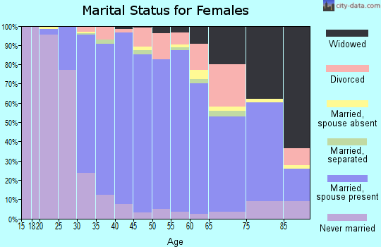 Zip code 19438 marital status for females