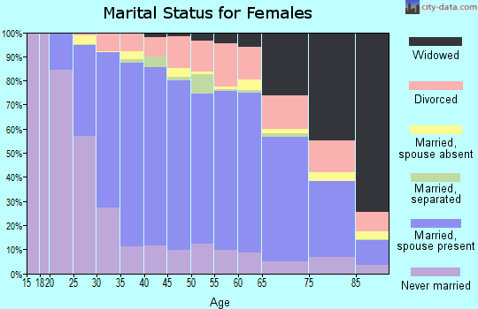 Zip code 19446 marital status for females