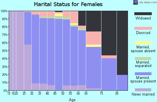 Zip code 19525 marital status for females
