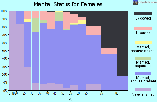 Zip code 19540 marital status for females