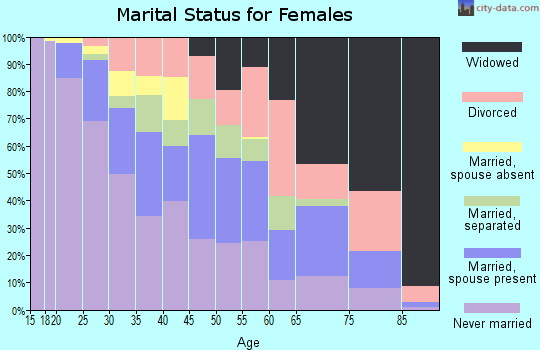 Zip code 19602 marital status for females