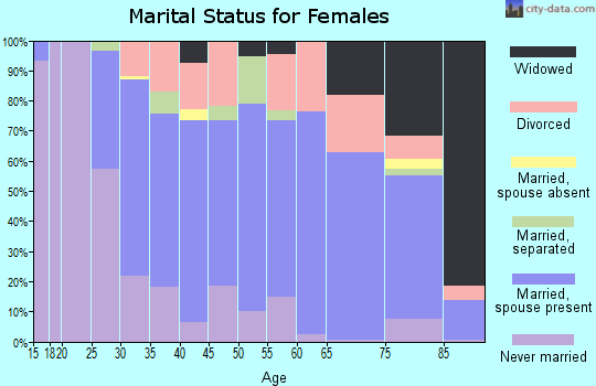 Zip code 19609 marital status for females