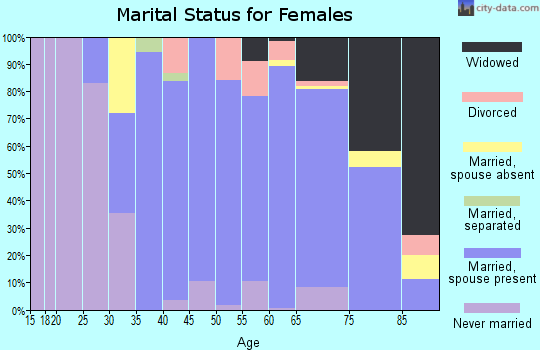 Zip code 19807 marital status for females