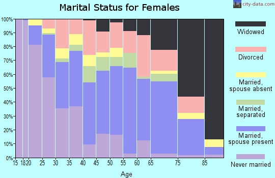 Zip code 19901 marital status for females