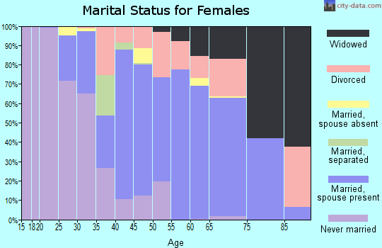 Zip code 19945 marital status for females