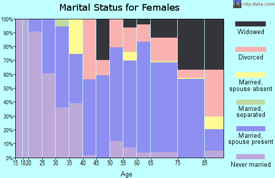 Zip code 19970 marital status for females