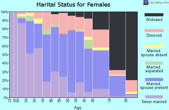 Zip code 19973 marital status for females