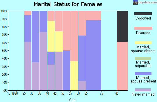 Zip code 20004 marital status for females