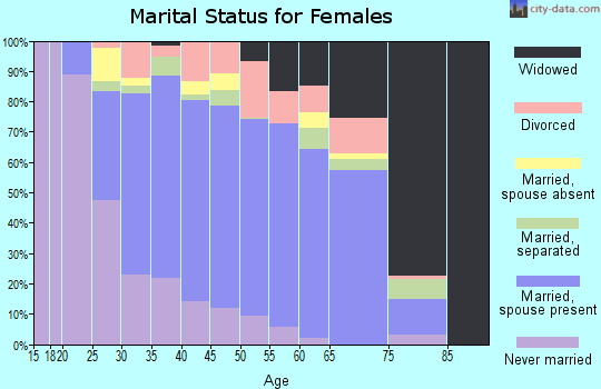 Zip code 20111 marital status for females