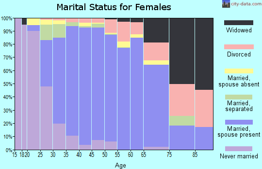 Zip code 20112 marital status for females
