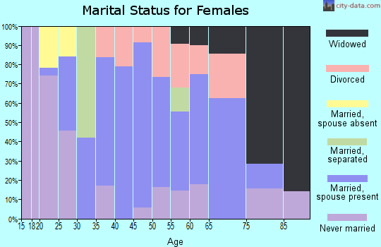 Zip code 20115 marital status for females