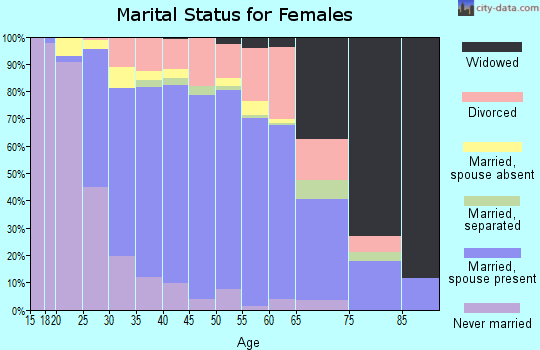 Zip code 20120 marital status for females