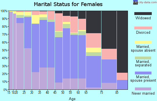 Zip code 20164 marital status for females
