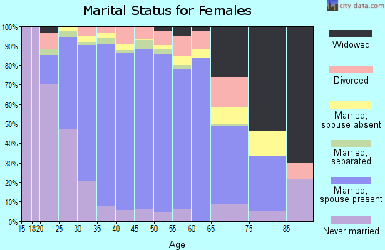 Zip code 20171 marital status for females