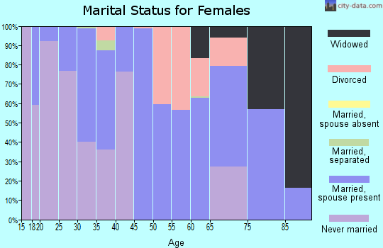 Zip code 20198 marital status for females