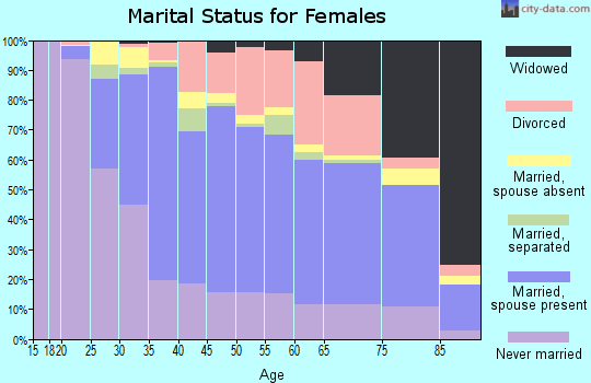 Zip code 20901 marital status for females