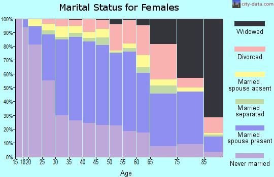 Zip code 20902 marital status for females
