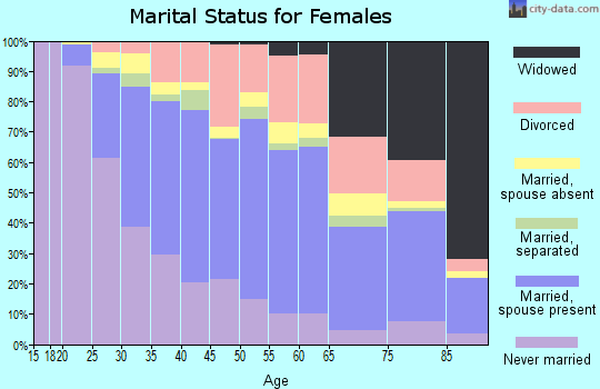 Zip code 20904 marital status for females