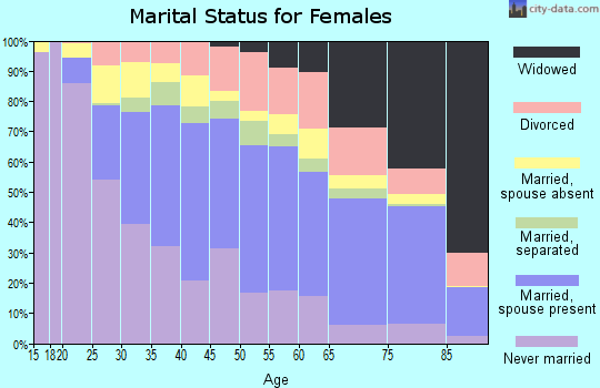 Zip code 20906 marital status for females