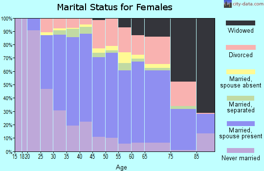 Zip code 21045 marital status for females