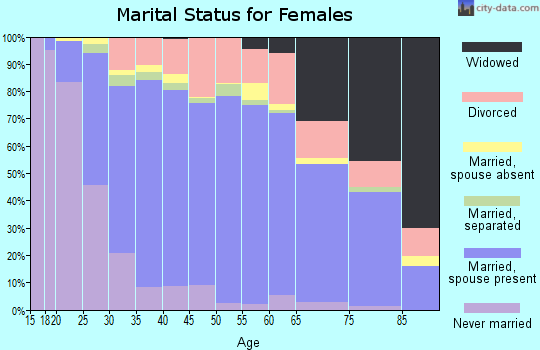 Zip code 21122 marital status for females