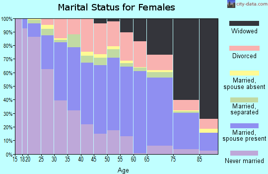 Zip code 21221 marital status for females