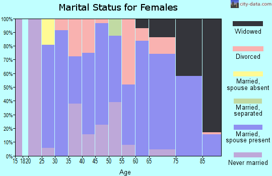 Zip code 21849 marital status for females