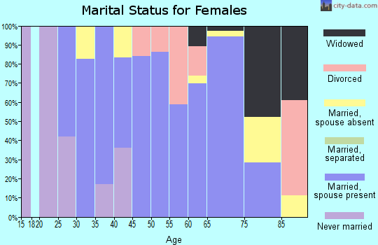 Zip code 22027 marital status for females