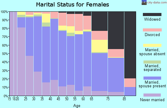 Zip code 22031 marital status for females