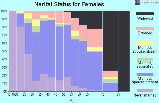Zip code 22079 marital status for females