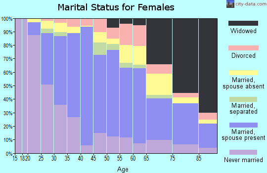 Zip code 22150 marital status for females