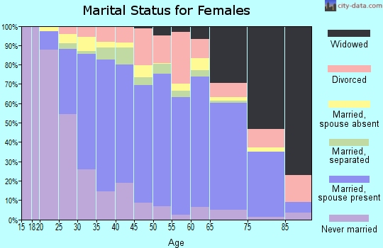 Zip code 22193 marital status for females