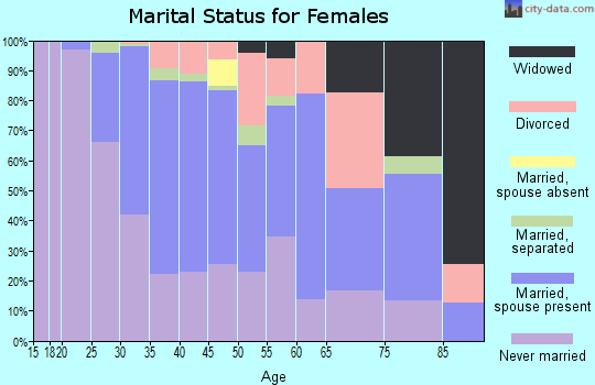 Zip code 22301 marital status for females
