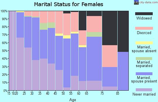 Zip code 22303 marital status for females