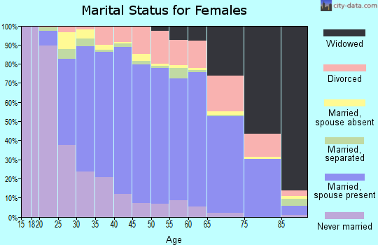 Zip code 22407 marital status for females